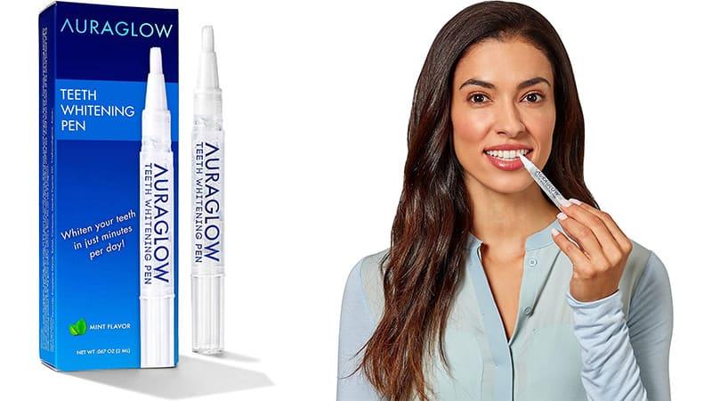The AuraGlow Teeth Whitening Pen