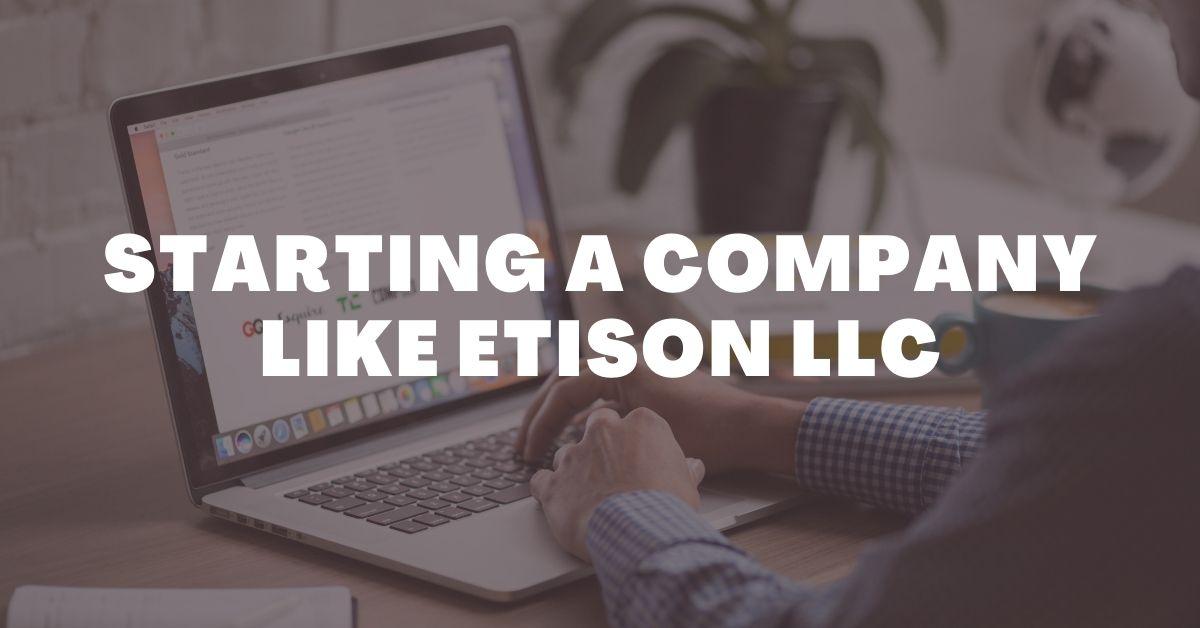 Starting A Company Like Etison LLC